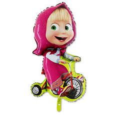 Шар 99 см Фигура Маша на велосипеде