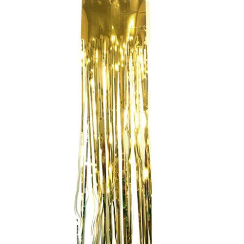 Новогодний дождик золотой 75 х 150 см