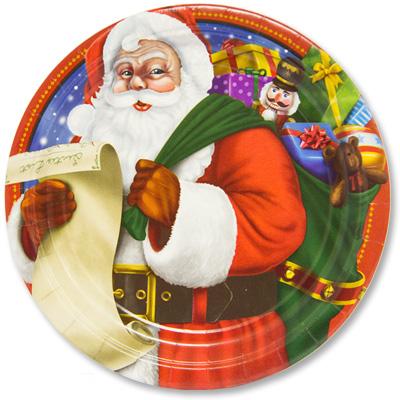 Тарелки 17 см Санта 8 штук