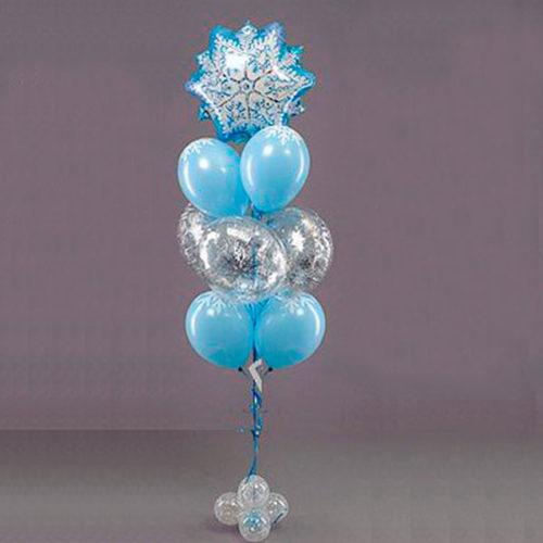 Фонтан из шаров Новогодний со Снежинкой
