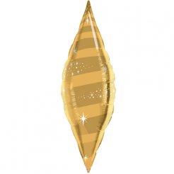 Шар 102 см Фигура Конус Звездный вихрь Золото
