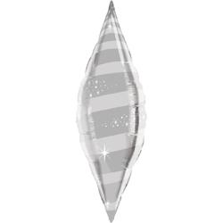 Шар 102 см Фигура Конус Звездный вихрь Серебро