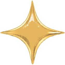 Шар 71 см Фигура Звезда 4х-конечная Золото