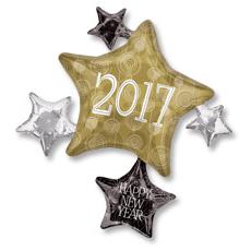 Шар 71 см Фигура Звезды 2017