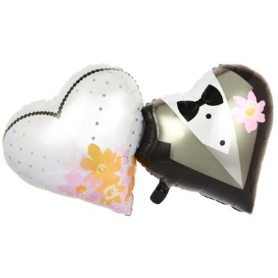 Шар 91 см Фигура Сердце невеста и жених