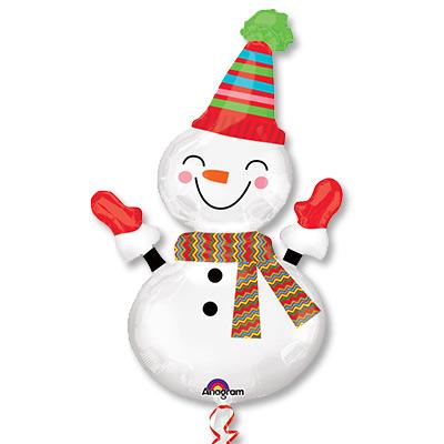 Шар 91 см Фигура Снеговик улыбчивый