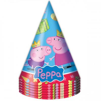 Колпаки Пеппа-принцесса 6 штук