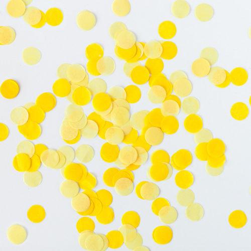 Конфетти Круги 4 см Желтый