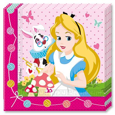 Салфетки 33 х 33 Алиса в Стране Чудес 20 штук