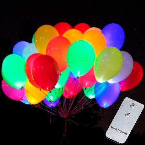 Светящиеся шары 35 штук с пультом управления