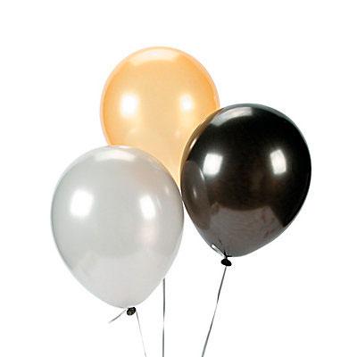Связка из 3 шаров Серебро Золото и черный