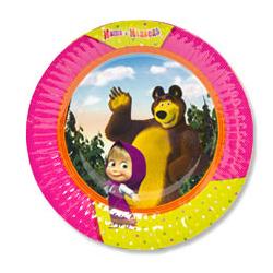 Тарелка бумажные 17 см Маша и Медведь 6 шт