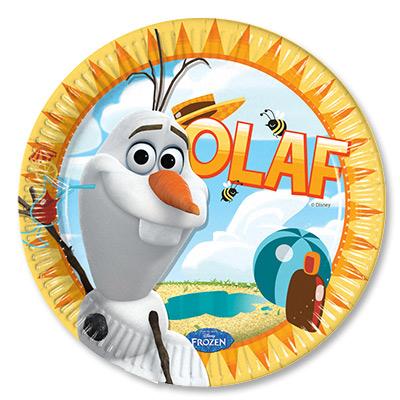 Тарелки 23 см Frozen Олаф Лето 8 штук