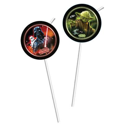 Трубочки для коктейля Звездные Войны Герои 6 штук