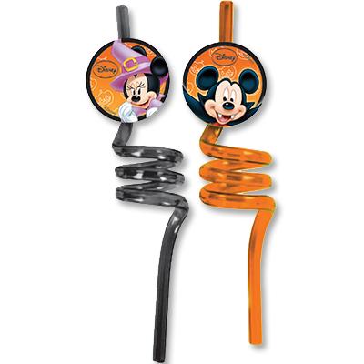 Трубочки для коктейля Микки Хэллоуин 2 штуки