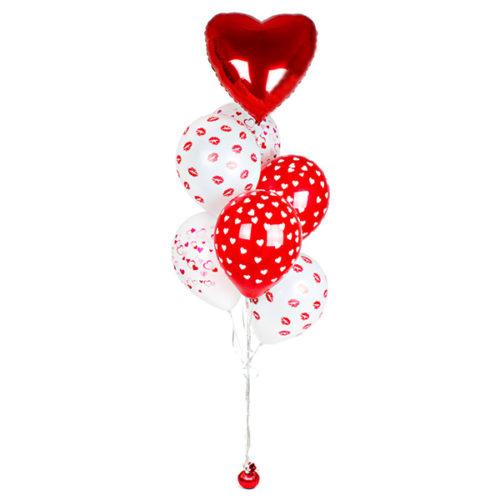 Фонтан из шаров Сердца и поцелуи