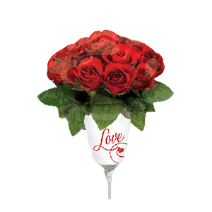 Шар 23 см Мини-фигура Ваза с розами