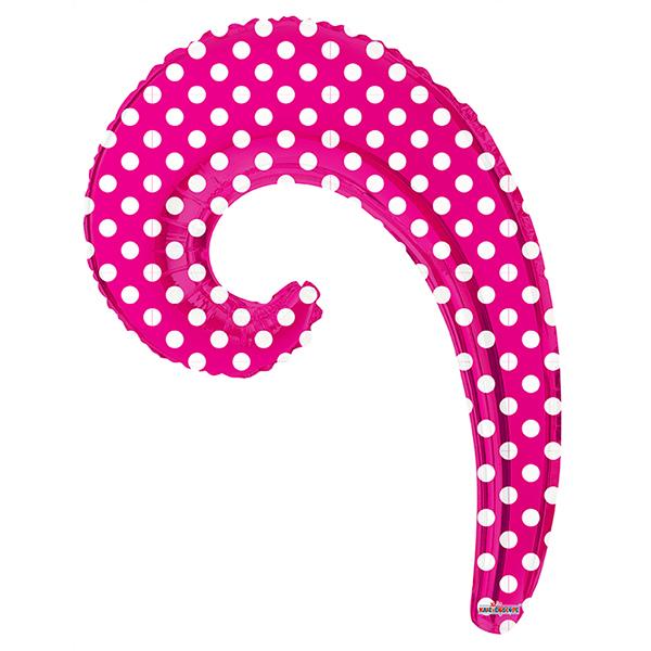 Шар 36 см Мини-фигура Волна PINK в горошек
