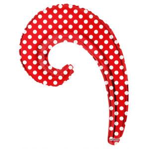 Шар 36 см Мини-фигура Волна RED в горошек