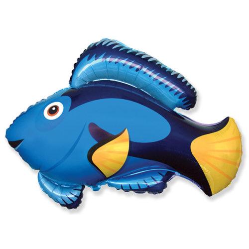 Шар 36 см Мини-фигура Рыба Голубой