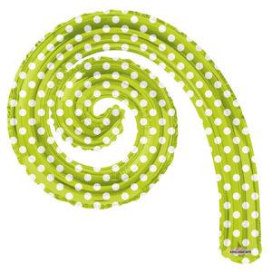 Шар 36 см Мини-фигура Спираль KIWI в горошек