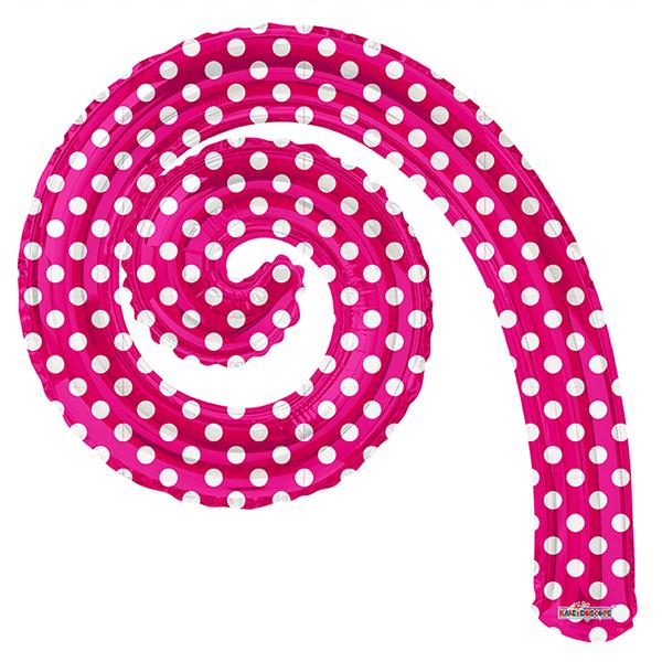 Шар 36 см Мини-фигура Спираль PINK в горошек