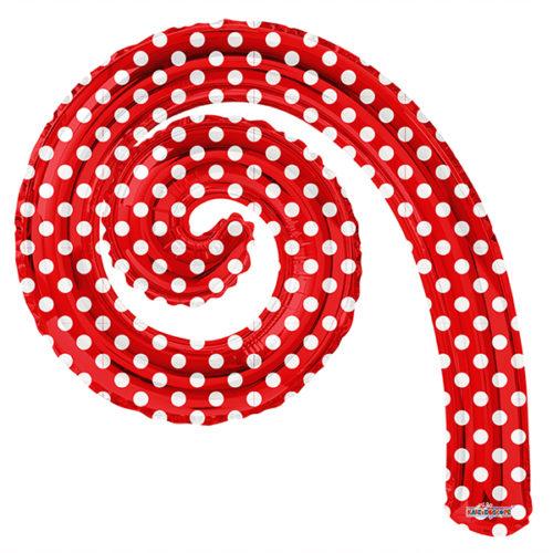Шар 36 см Мини-фигура Спираль RED в горошек