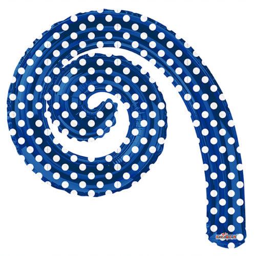 Шар 36 см Мини-фигура Спираль ROYAL BLUE в горошек
