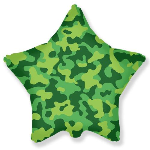 Шар 46 см Звезда Камуфляж военный