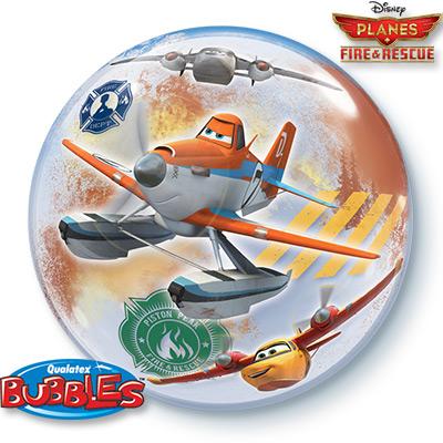 Шар 56 см bubble Самолеты Огонь Вода