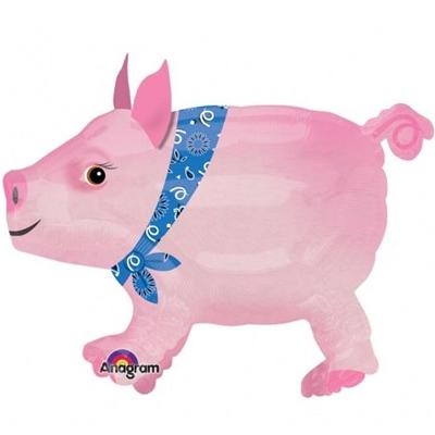 Шар 61 см Ходячая Фигура Свинка