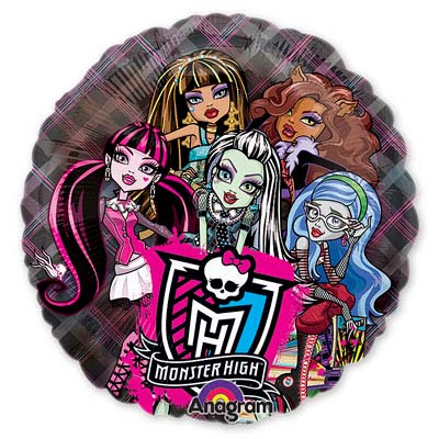 Шар 66 см Круг Monster High кристалл
