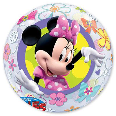 Шар BUBBLE 56 см Disney Минни Бантики Цветы