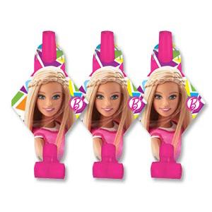 Язык-гудок с картонкой Барби 8 шт