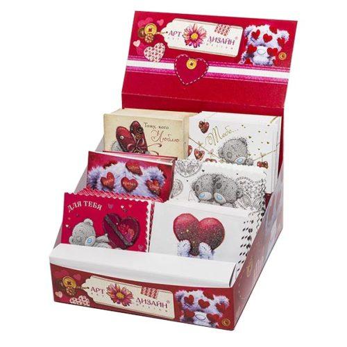 Открытка из Набора валентинок Тедди в сердечках 1 штука