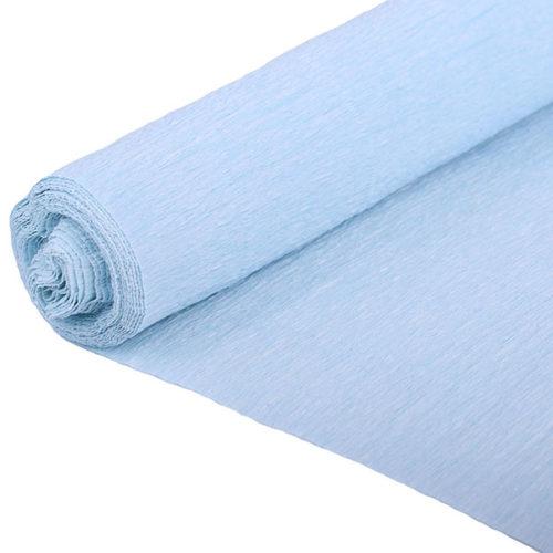 Бумага гофрированная голубая № 32 120 г 50х250см