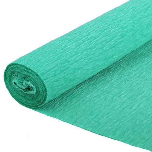 Бумага гофрированная зеленая № 17 120 г 50х250см