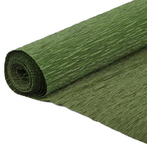 Бумага гофрированная темно-зеленая № 55 120 г 50х250см