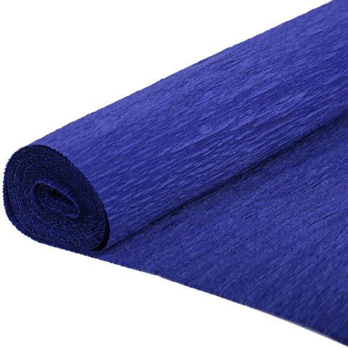 Бумага гофрированная темно-синяя № 35 120 г 50х250см