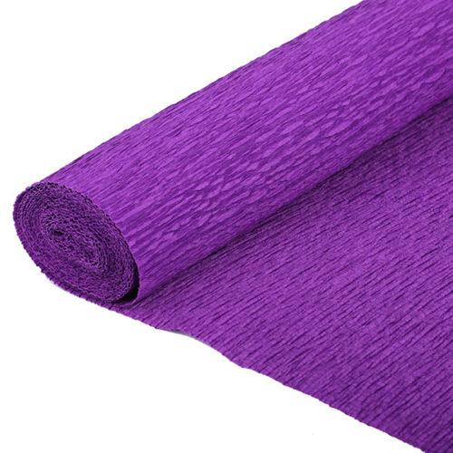 Бумага гофрированная фиолетовая № 40 120 г 50х250см