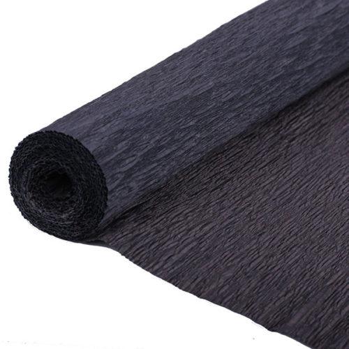 Бумага гофрированная черная № 37 120 г 50х250см
