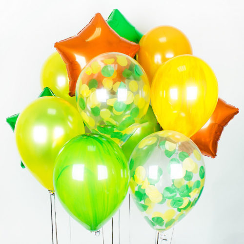 Комплект из шаров Яркий с мраморными шарами
