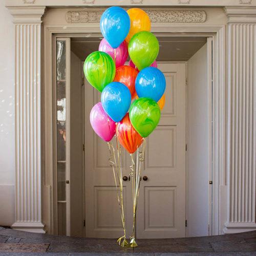 Комплект из 2 фонтанов из 7 шаров Разноцветный мрамор