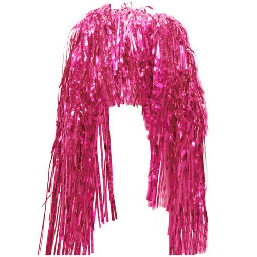 Парик Дождик Медиум Розовый