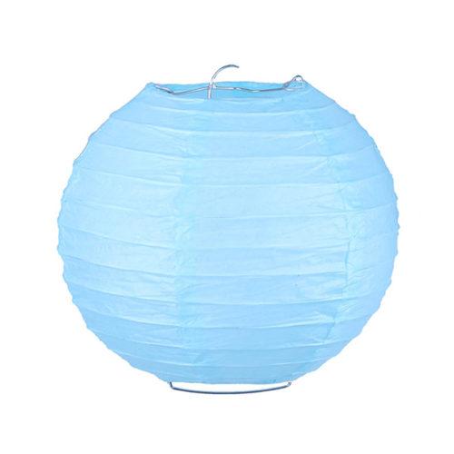 Подвесной фонарик 25 см Стандарт светло-голубой