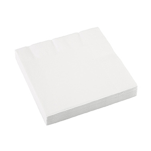 Салфетка 33 х 33 см Frosty White Белая 16 шт