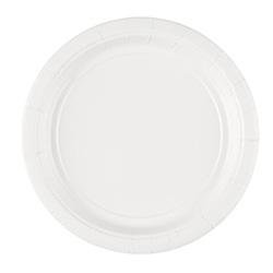 Тарелка бумажная 17 см Frosty White Белый 8 шт
