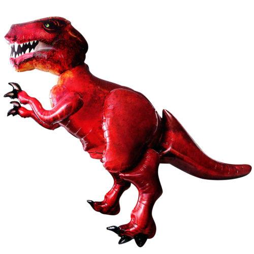 Шар 173 см Ходячая Фигура Динозавр Красный