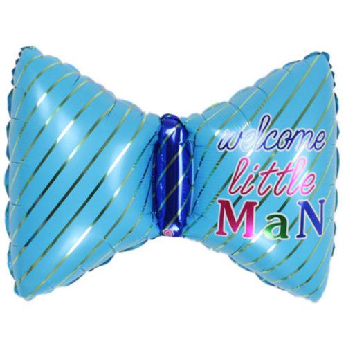 Шар 66 см Фигура Бантик для для мальчика Голубой