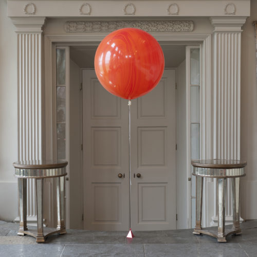 Шар 70 см Агат Оранжевый с Грузиком